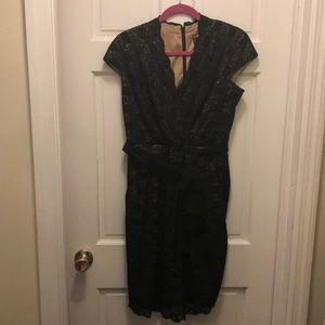 Alex Evenings Black V Neck Dress